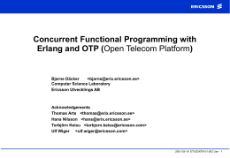 Concurrent Functional Programming with Erlang and …