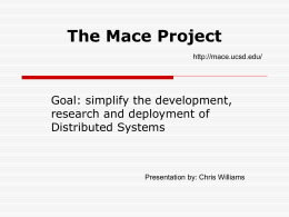 The Mace Project - University of South Florida