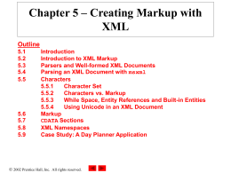 Fig. 5.1 Simple XML document containing a message.