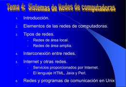 Tema 3. Redes de ordenadores. La red Internet