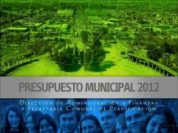 PRESUPUESTO 2012.