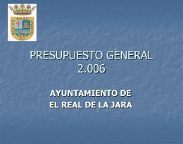 PRESUPUESTO DE INGRESOS 2.006