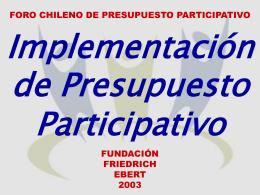 Presupuesto Participativo en Chile