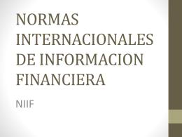 NORMAS INTERNACIONALES DE INFORMACION …
