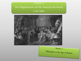 Chapter 5The Enlightenment and the American …