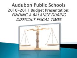 Audubon Public Schools 2009