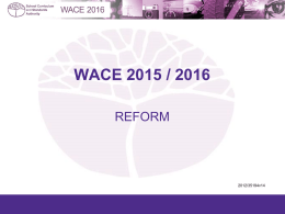 Endorsed Programs and the WACE