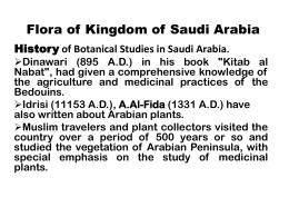 Flora of Saudi Arabia