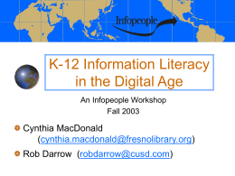 K-12 Information Literacy in the Digital Age