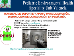 radiaciones ionizantes - Paediatric Environmental Health