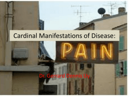 Cardinal Manifestations of Diease