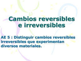 Cambios reversibles e irreversibles