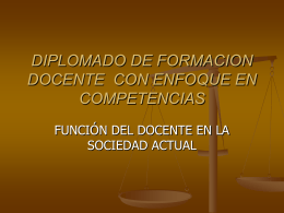 DIPLOMADO DE FORMACION DOCENTE CON ENFOQUE …