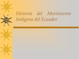 Pueblos y Nacionalidades Indigenas del Ecuador