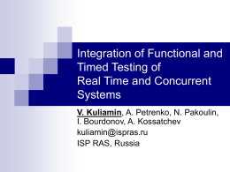 Integration of Functional and Timed Testing of Real Time