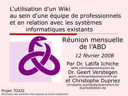 Projet TOXIS - DESTIN Informatique