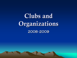 Clubs and Organizations - Klein Independent School District