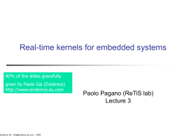 real-time systems for embedded microcontrollers