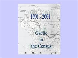 1901-2001 Gaelic in the Census
