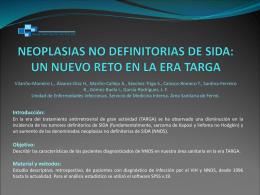 NEOPLASIAS NO DEFINITORIAS DE SIDA: UN NUEVO …