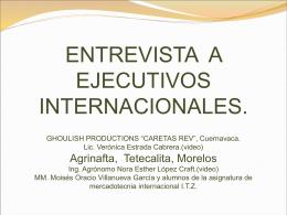 ENTREVISTA A EJECUTIVOS INTERNACIONALES.