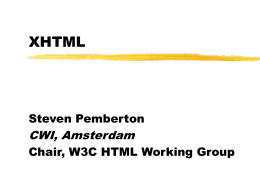 XHTML: The New HTML