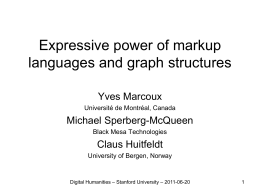 Expressive power of markup languages and graph structures
