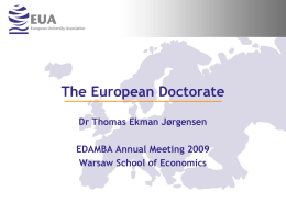 The European Doctorate