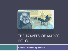 The Travels of Marco Polo - White Plains Public Schools