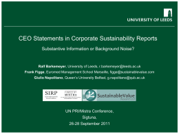 SOEE 3270 Business & Sustainable Development