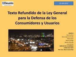 Texto Refundido de la Ley General para la Defensa de los