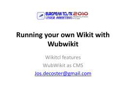 Running your own Wikitcl