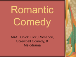 Romantic Comedy - University of Minnesota Twin Cities
