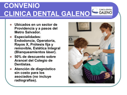 CONVENIO CLINICA DENTAL GALENO