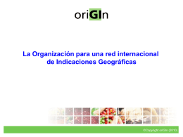 The Organization for an International Geographical