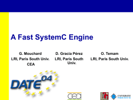 Date 2004 - A Fast SystemC Engine