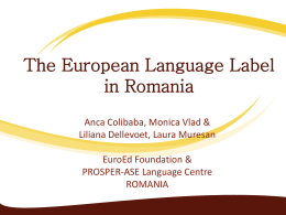 The European Language Label in Romania