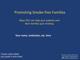 Promoting Smoke Free Families