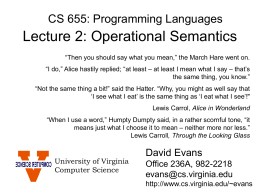 CS696 Talk - University of Virginia