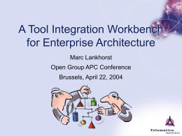 A Tool Integration Workbench for Enterprise Architecture