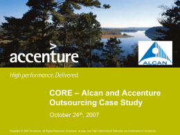 CORE – Alcan and Accenture Outsourcing Case Study
