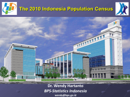 The 2010 Indonesia Population Census