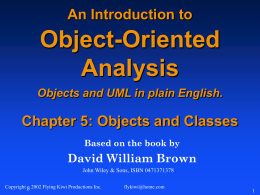 An Introduction to Object-Oriented Analysis Objects in
