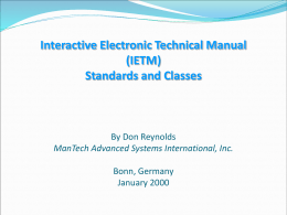 Interactive Electronic Technical Manual (IETM