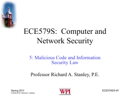 EE579S Computer Security
