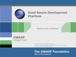 OWASP Education Project