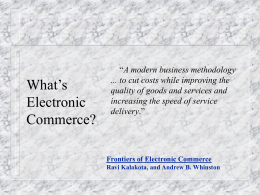 E-Commerce - Philadelphia University