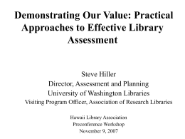 COMMUNITY ASSESSMENT: An Essential Part of the …