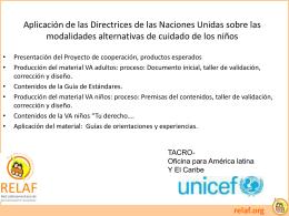 Diapositiva 1 - :: RELAF SITIO OFICIAL
