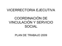 PLAN DE TRABAJO 2009 CVSS
